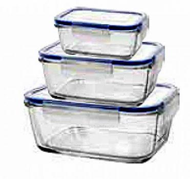 Ételtároló üvegből 14x9,4x5,0cm 0,38L KICSI 14070320