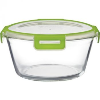 Ételtároló üvegből 2,32L 10x22,1cm műanyag fedővel 59026