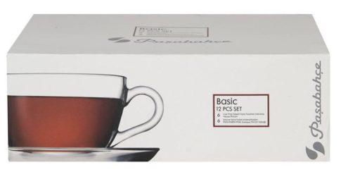 Teás készlet BASIC (6+6) 190ml 96693