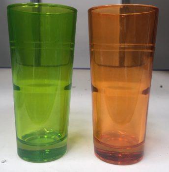 Pohár Üdítős ALPES 6db Narancssárga/Zöld
