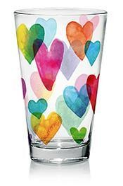 Pohár Üdítős NADIA LOVE RAINBOW 3db 310ml M85900