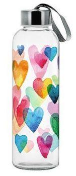 Kulacs üvegből 0,5L LORY LOVE RAINBOW M85970
