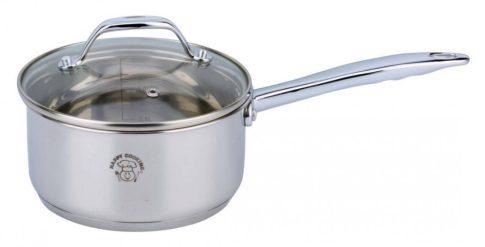 Lábas HC RM 1,6L 16x8,0cm nyeles mértékjeles, üveg fedővel Happy Cooking RS-1131