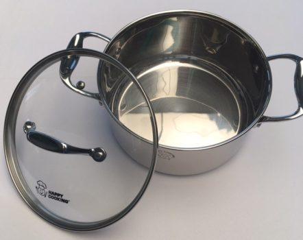 Lábas HC RM 3,1L 20x10cm mértékjeles, üveg fedővel Happy Cooking RS-1132