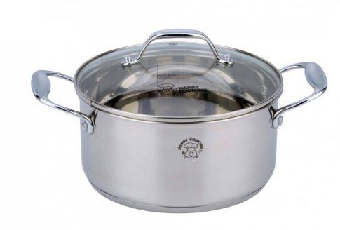 Lábas HC RM 6,3L 24x14cm mértékjeles, üveg fedővel Happy Cooking RS-1133