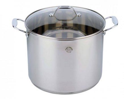 Lábas HC RM 12L 30x17cm mértékjeles, üveg fedővel Happy Cooking RS-1136