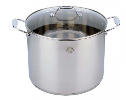 Fazék HC RM 13,5L 28x22cm mértékjeles, üveg fedővel Happy Cooking RS-1142