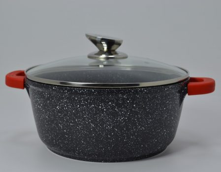 Lábas HC márvány bev. 4,1L 24x11cm üveg fedővel Happy Cooking RS-1198