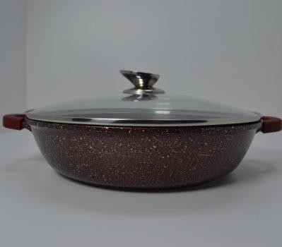 Lábas HC márvány bev. 4,8L 32x7,5cm üveg fedővel Happy Cooking RS-1202
