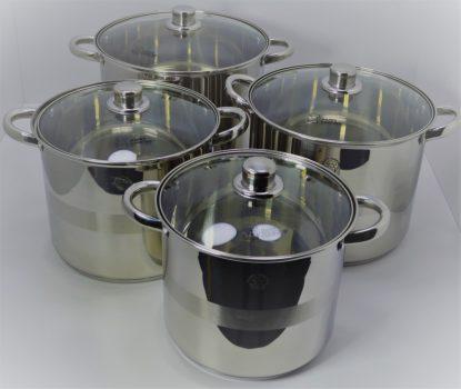 Edénykészlet HC   8r. mértékjeles, üveg fedővel Happy Cooking RM RS-1278