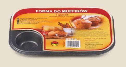Muffin sütőforma 6 csészés tapadásmentes szürke 990-57