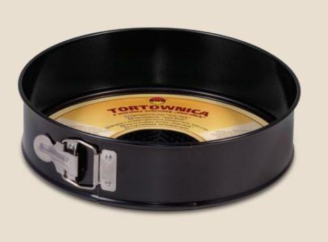 Tortaforma kör alakú csatos 26cm texturált aljjal tapadásmentes fekete 990-104