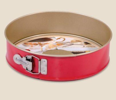 Tortaforma kör alakú csatos 24cm texturált aljjal tapadásmentes red&gold 990-23/12
