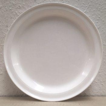 Tányér lapos Műanyag peremes 22,5cm fehér