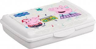 Uzsonnás doboz 17x13x3,5cm 0,5L PEPPA PIG mini 1070413