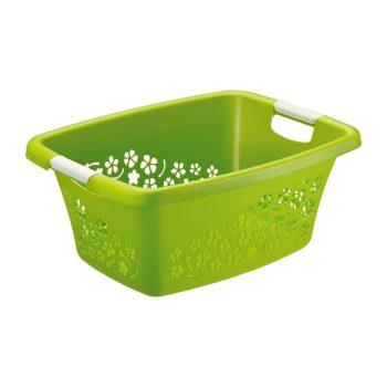 Ruháskosár R 25L 50,5x38,3x21,8cm FLOWERS Zöld 1756590000