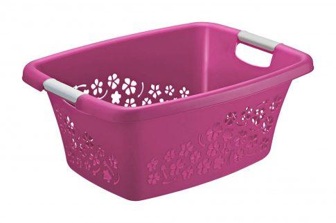 Ruháskosár R 25L 50,5x38,3x21,8cm FLOWERS Pink 1756590001