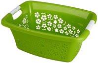 Ruháskosár R 50L 65,1x48,6x26,2cm FLOWERS Zöld 1756790000 KIF
