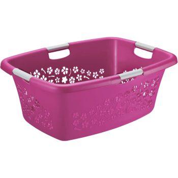 Ruháskosár R 50L 65,1x48,6x26,2cm FLOWERS Pink 1756790001 KIF