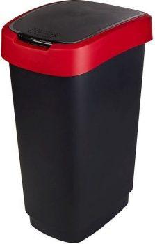 Szemetes billenős R 50L 40,1x29,8x60,2cm TWIST Fekete/Piros 1754502255 KIF