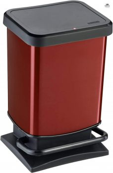Szemetes pedálos R 20L 29,3x26,6x45,7cm PASO HIPSTER Metallic Piros 1754010265