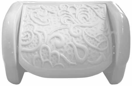 WC papír tartó fali csipkés 16,5x11,5x11,5cm 376