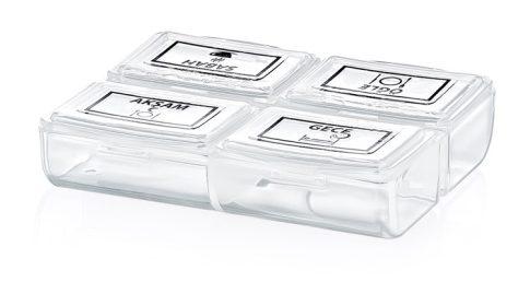 Gyógyszeres doboz (naponta) 8,2x6,8x2cm TV-250