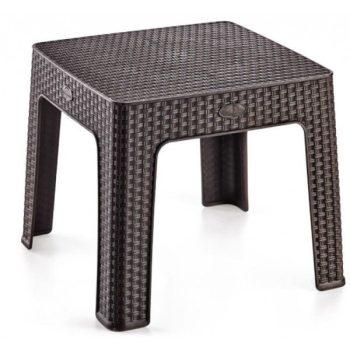 Asztal 44x44x41cm Rattan BARNA HS-700