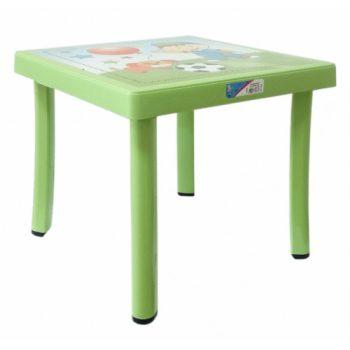 Gyerek asztal 50x50x40cm ZÖLD CM-305