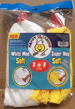 MOP fej mikroszálas fehér+sárga Happy Cleaning RS-1125