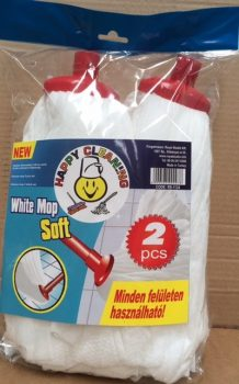 MOP fej mikroszálas fehér 2dbx110g Happy Cleaning RS-1124