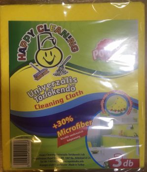 Törlőkendő 3db 30% Microfiber Happy Cleaning RS-1181
