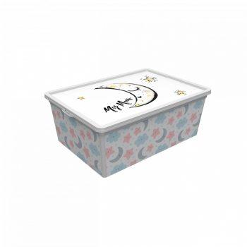 Tároló doboz Q 5,0L 19x33,5x11,5cm  ÉGBOLT M