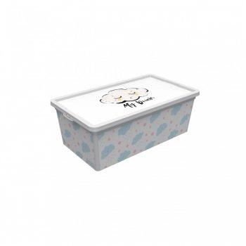 Tároló doboz Q  10L 26x37x14cm ÉGBOLT L