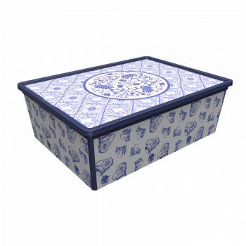 Tároló doboz Q  25L 37x52,5x17,5cm PORCELÁN XL