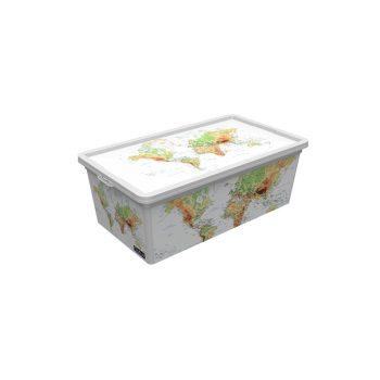 Tároló doboz Q 5,0L 19x33,5x11,5cm  FÖLD M