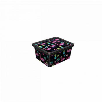 Tároló doboz Q 2,5L 16,5x19x9,5cm FLAMINGÓ S