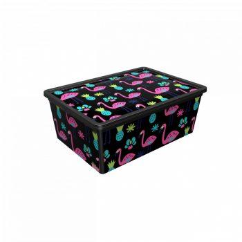 Tároló doboz Q 5,0L 19x33,5x11,5cm  FLAMINGÓ M