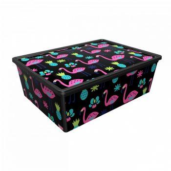 Tároló doboz Q  25L 37x52,5x17,5cm FLAMINGÓ XL