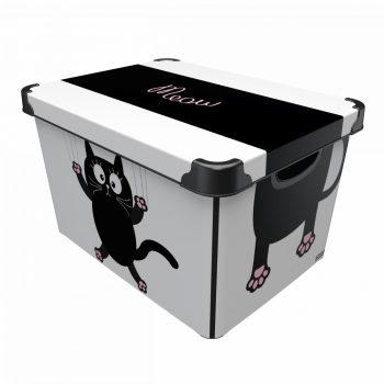 Tároló doboz Q  20L 24x30x41cm MIAU XL