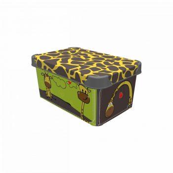 Tároló doboz Q 5,0L 19x28,5x13,5cm  ZSIRÁF M