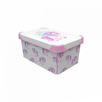 Tároló doboz Q 5,0L 19x28,5x13,5cm  UNIKORNIS M