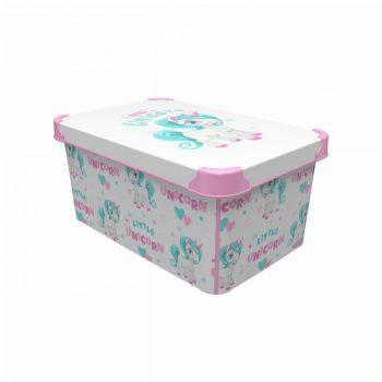 Tároló doboz Q  10L 23x34,5x16cm UNIKORNIS L