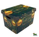 Tároló doboz Q  20L 24x30x41cm MERRY CHRISTMAS GREEN