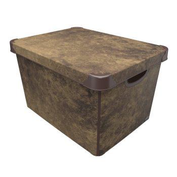 Tároló doboz Q  20L 24x30x41cm NUBUCK XL