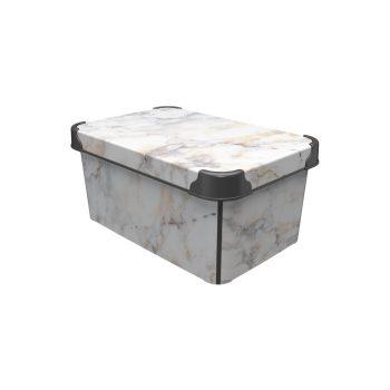 Tároló doboz Q 5,0L 19x28,5x13,5cm  MARBLE M