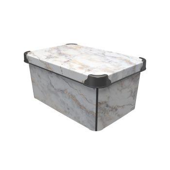 Tároló doboz Q  10L 23x34,5x16cm MARBLE L