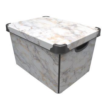 Tároló doboz Q  20L 24x30x41cm MARBLE XL