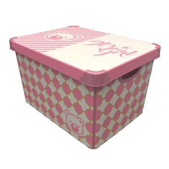 Tároló doboz Q  20L 24x30x41cm IT'S A GIRL XL