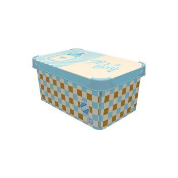 Tároló doboz Q 5,0L 19x28,5x13,5cm  IT'S A BOY M